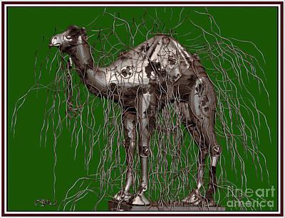 Camel Mixed Media - 2metal Camel 7mc by Pemaro