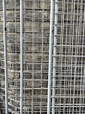 Metal Photograph - Metal Frames Detail by Tom Gowanlock