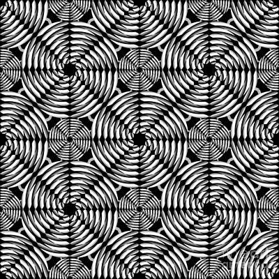 Algorithmic Digital Art - Metallic Mesh Pattern by Gaspar Avila