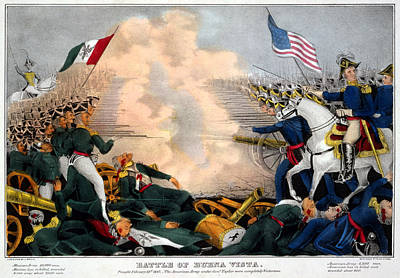 Mexican-american War. Battle Of Buena Print by Everett