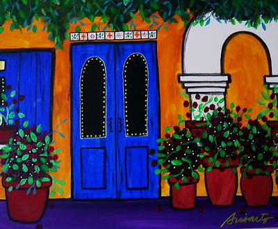 Mexican Town Painting - Mexican Door by Pristine Cartera Turkus