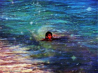 Photograph - Mexican Girl Swimming In Glitter by John Potts
