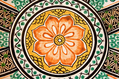 Photograph - Mexican Tile Detail by Carol Leigh