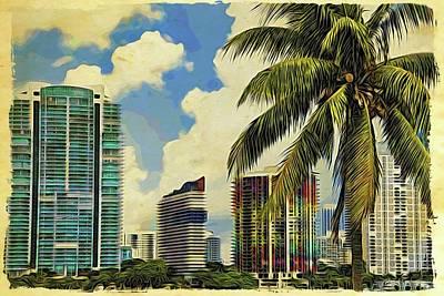 Photograph - Miami Deco by Alice Gipson