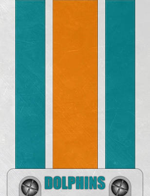 Miami Mixed Media - Miami Dolphins Helmet Art by Joe Hamilton