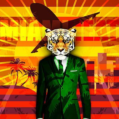 Miami Heat Art Print by Gallini Design