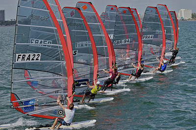 Photograph - Miami O C R Regatta by Steven Lapkin