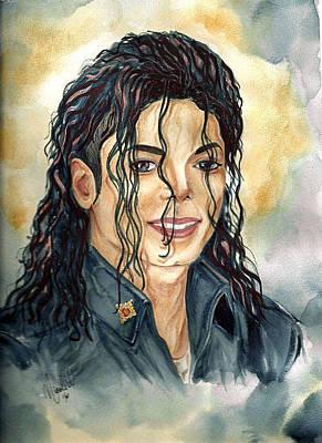 Michael Jackson Painting - Michael Jackson - A Portrait by Nicole Wang