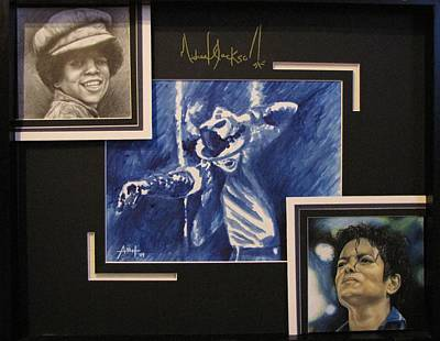Michael Jackson Drawing - Michael Jackson The King Of Pop by Angela Hannah