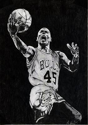 Michael Jordan Art Print by Hari Mohan