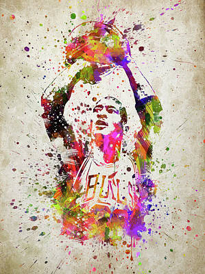 Athletes Digital Art - Michael Jordan in Color by Aged Pixel