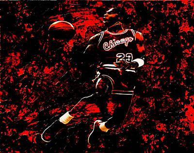 Carmelo Anthony Mixed Media - Michael Jordan L1 by Brian Reaves