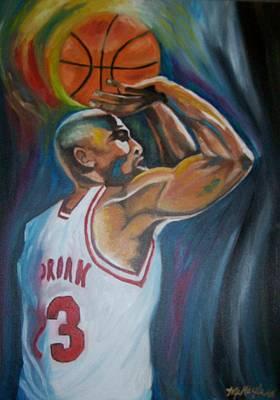 Michael Jordan Portrait Painting - Michael Jordan by Mikayla Ziegler