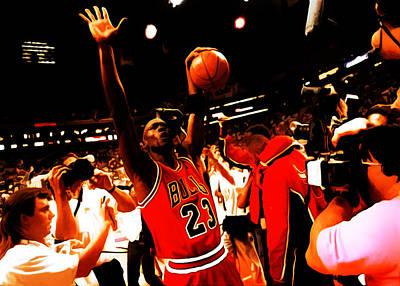 Utah Jazz Painting - Michael Jordan Sweet Victory by Brian Reaves