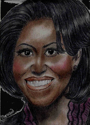 Michelle Obama Drawing - Michelle Obama by Thomasina Marks