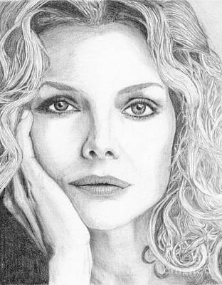 Michelle Pfeiffer Art Print by Alexandra Riley