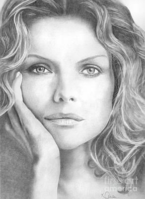 Michelle Pfeiffer Art Print by Karen  Townsend