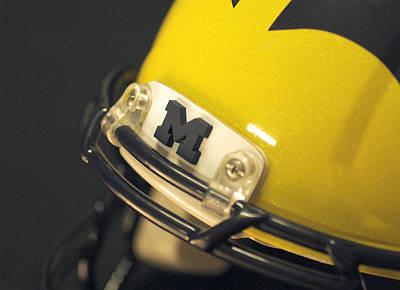 Photograph - Michigan M by Michigan Helmet