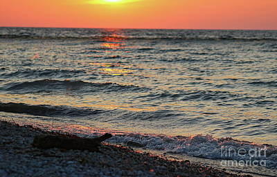 Photograph - Michigan Sunset by Erick Schmidt