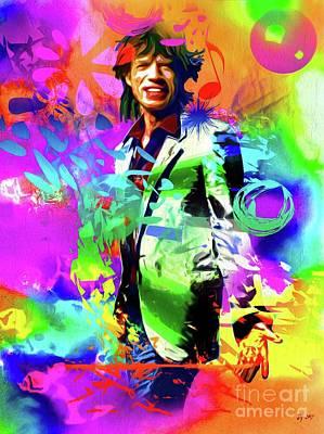 Painting - Mick Jagger by Daniel Janda