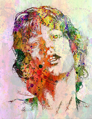 Modern Digital Art Digital Art Digital Art - Mick Jagger by Mark Ashkenazi