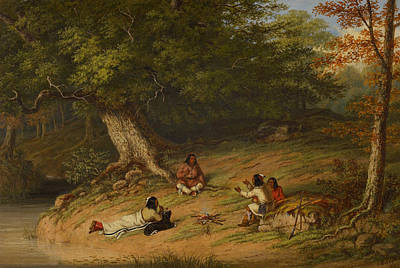 Midday Painting - Midday Rest by Cornelius Krieghoff