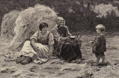 Joyful Drawing - Midday Rest by Frederick Morgan
