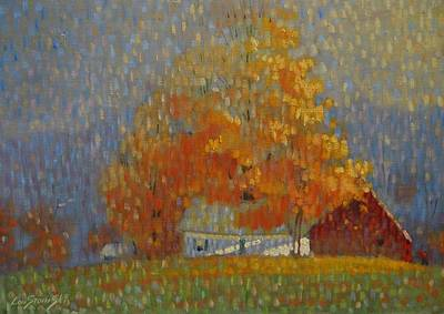 Painting - Middle Farm Foliage by Len Stomski