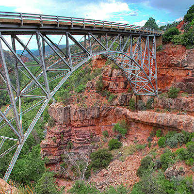 Photograph - Midgley Bridge In Sedona Arizona - 1x1 by Gregory Ballos