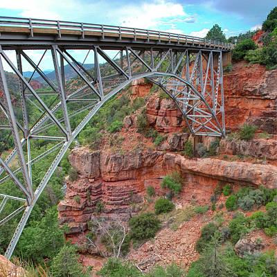 Photograph - Midgley Bridge In Sedona Arizona - 1x1 by Gregory Ballos