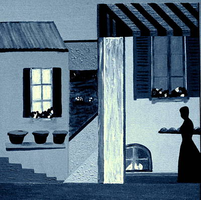 Midnight In Limoux Art Print