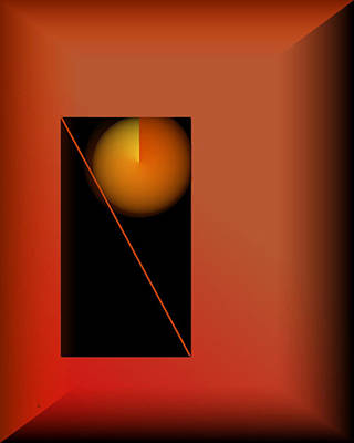Abstract Realism Digital Art - Midnight Orange by John Krakora