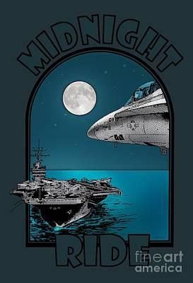 Midnight Ride Art Print