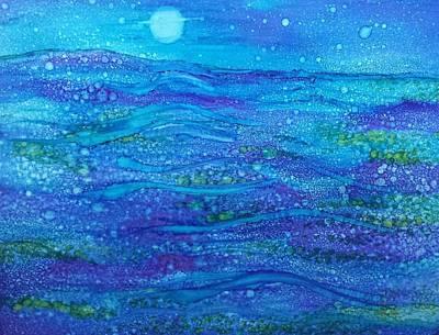 Midnight Swim Art Print