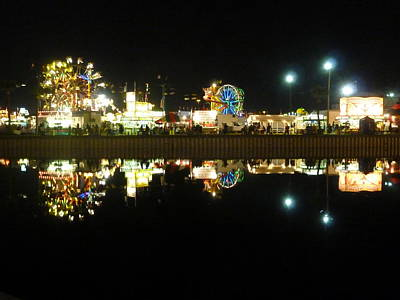 Photograph - Midway At Nite by Florene Welebny