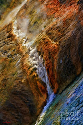 Photograph - Midway Geyser Basin Stream by Blake Richards