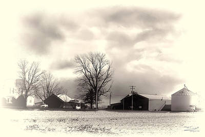 Artist Working Photograph - Midwest Farm  by Theresa Campbell
