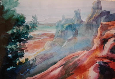 Painting - Mighty Canyon by Becky Chappell