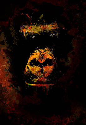 Mighty Gorilla Art Print by Jaroslaw Blaminsky