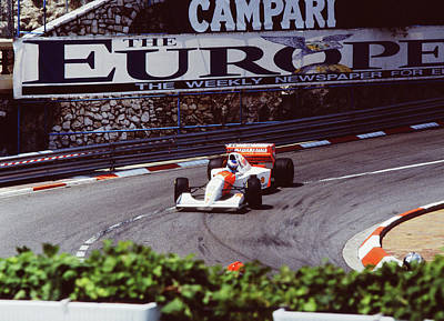 Photograph - Mika Hakkinen At Loews Hairpin by John Bowers
