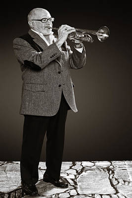 Photograph - Mike Vax Professional Trumpet Player Photographic Print 3784.02 by M K Miller