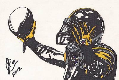 Steelers Drawing - Mike Wallace 3 by Jeremiah Colley