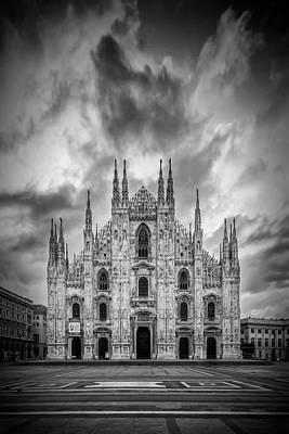 Old Milano Photograph - Milan Cathedral Santa Maria Nascente by Melanie Viola