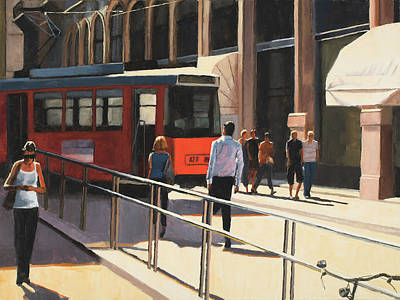 Painting - Milan Trolley by Tate Hamilton
