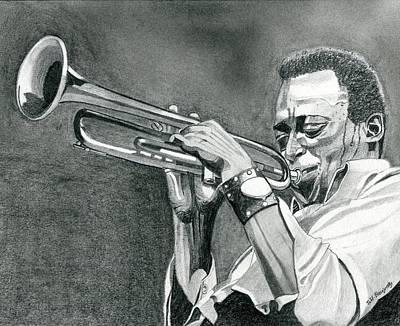 Miles Davis Art Print by Jeff Blazejovsky