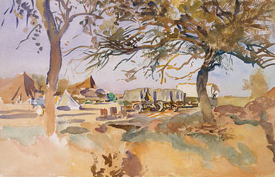Drawing - Military Camp by John Singer Sargent