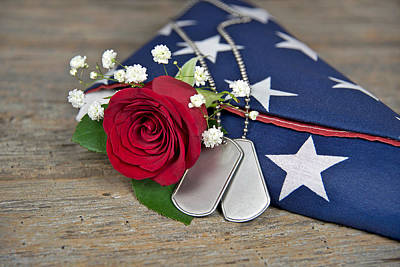 Wood Necklace Photograph - Military Tribute by Maria Dryfhout