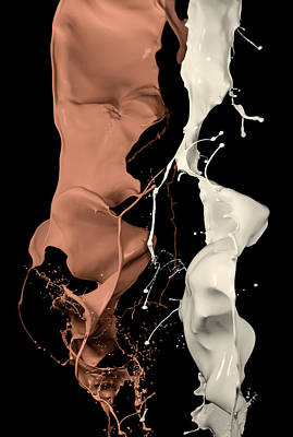 Photograph - Milk And Liquid Chocolate Splash by Andy Astbury