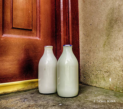 Photograph - Milk Bottles by R Thomas Berner