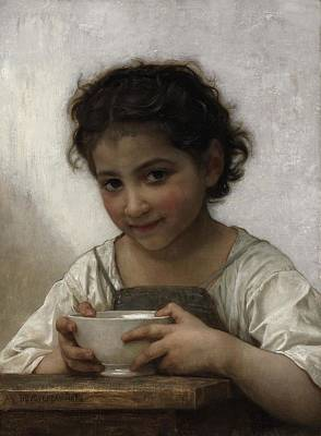 Meal Painting - Milk Soup by William-Adolphe Bouguereau